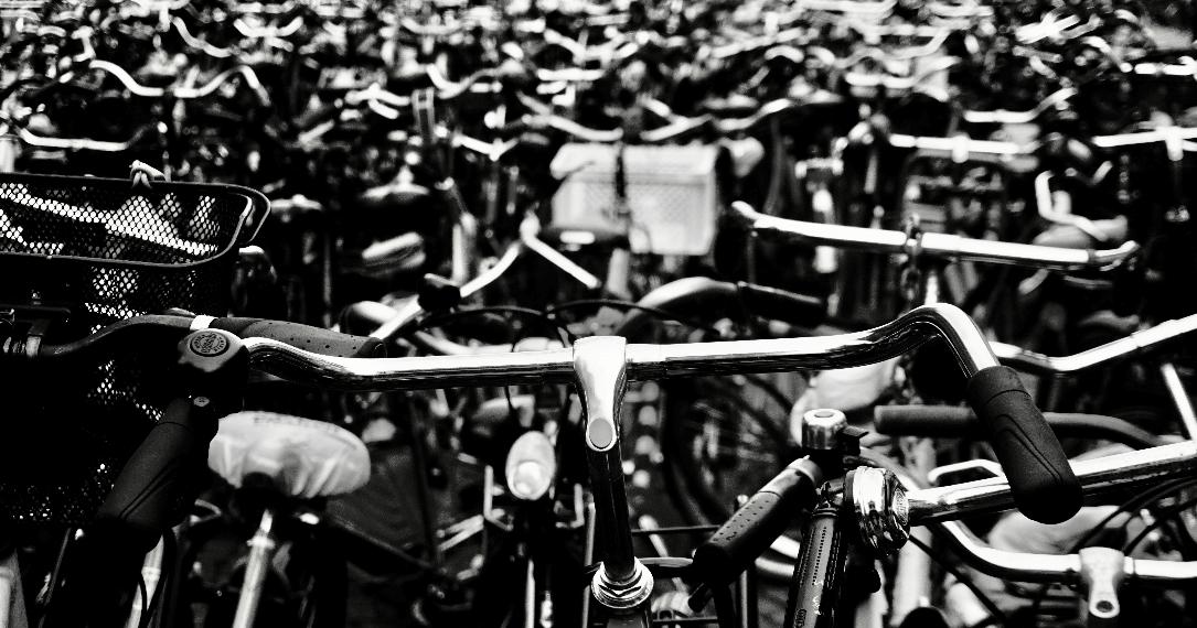 Fietsen in de stad Groningen